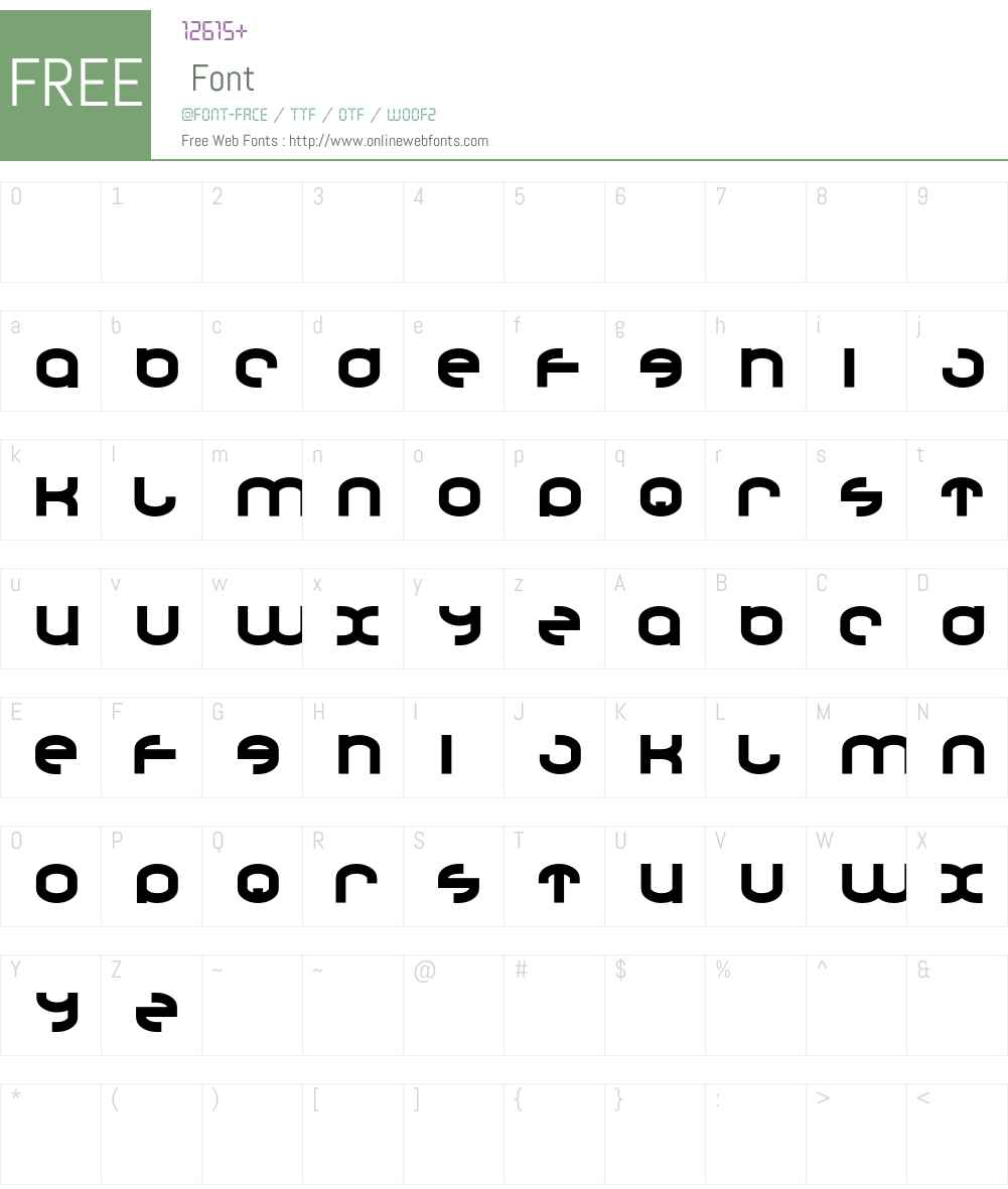 Droncat Font Screenshots