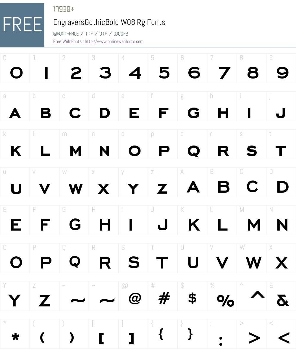 Engravers Gothic BT Font Screenshots