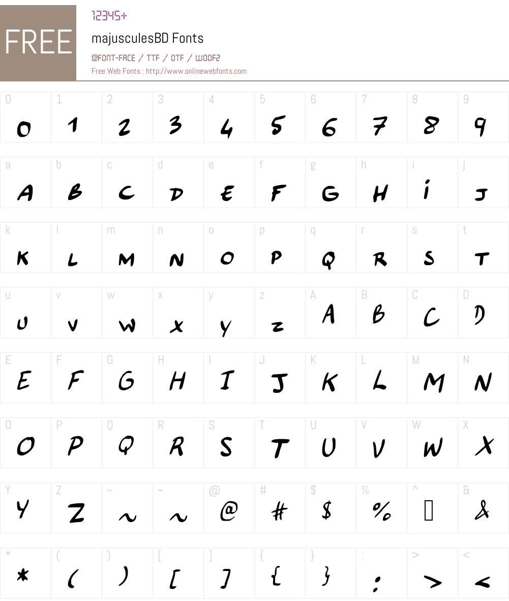 majusculesBD Font Screenshots