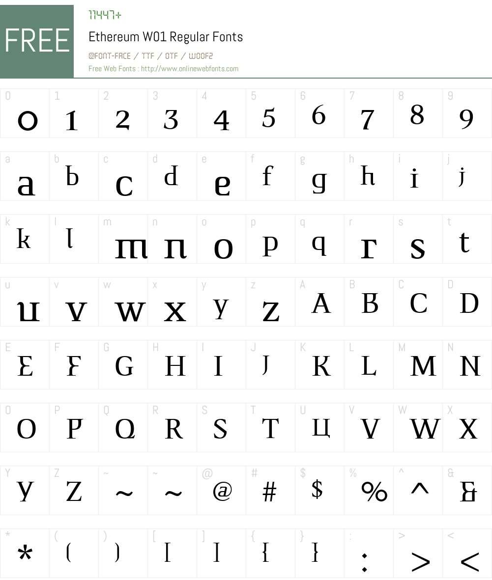 EthereumW01-Regular Font Screenshots