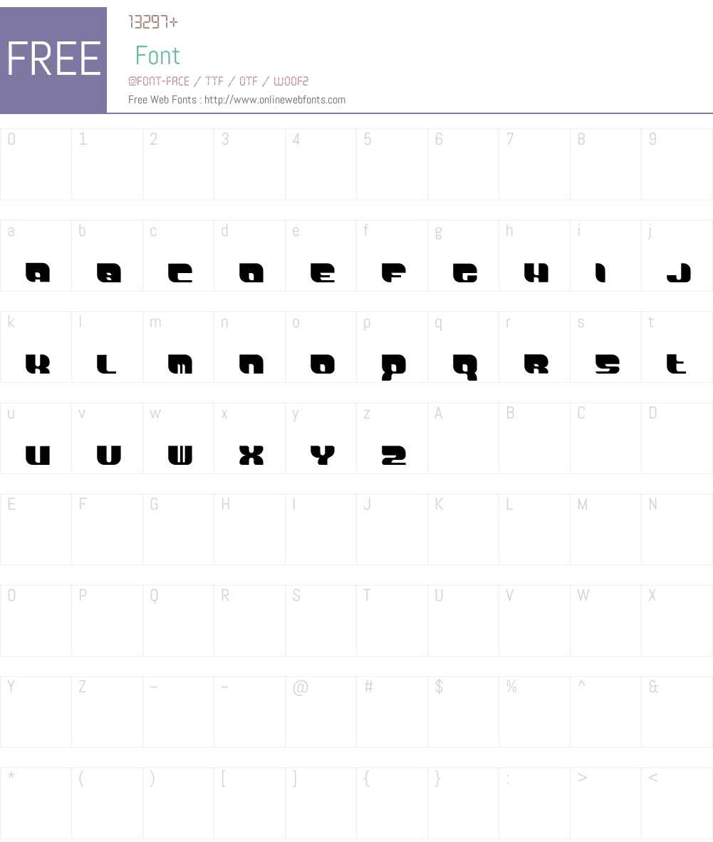 DemonWipeoutXLFontProportional Font Screenshots
