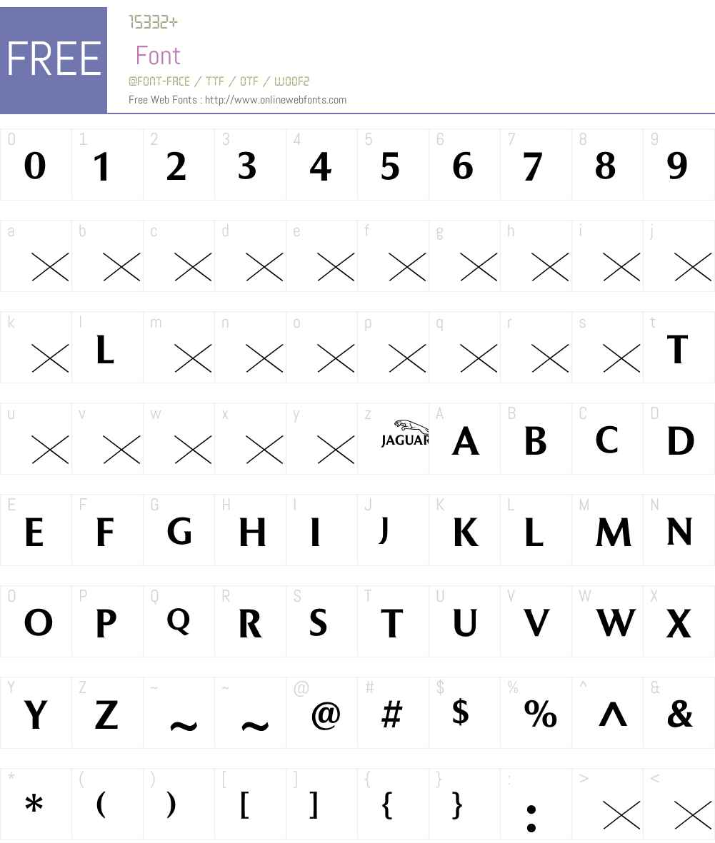 JaguarTitlingJC Font Screenshots