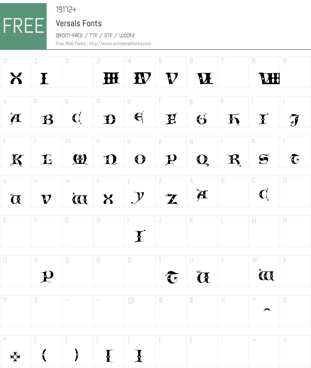 Versals Font Screenshots