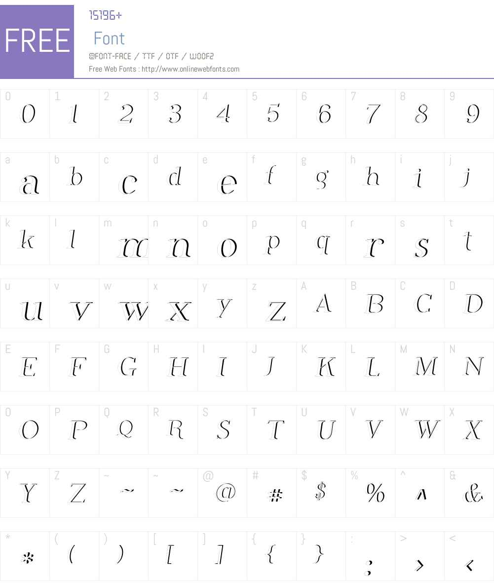 Phosphorus Dihydride Font Screenshots