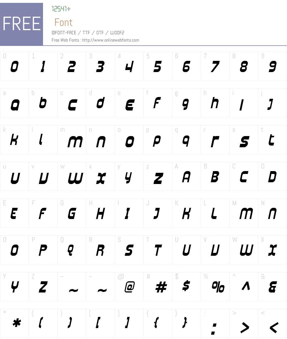 SF Plasmatica Font Screenshots