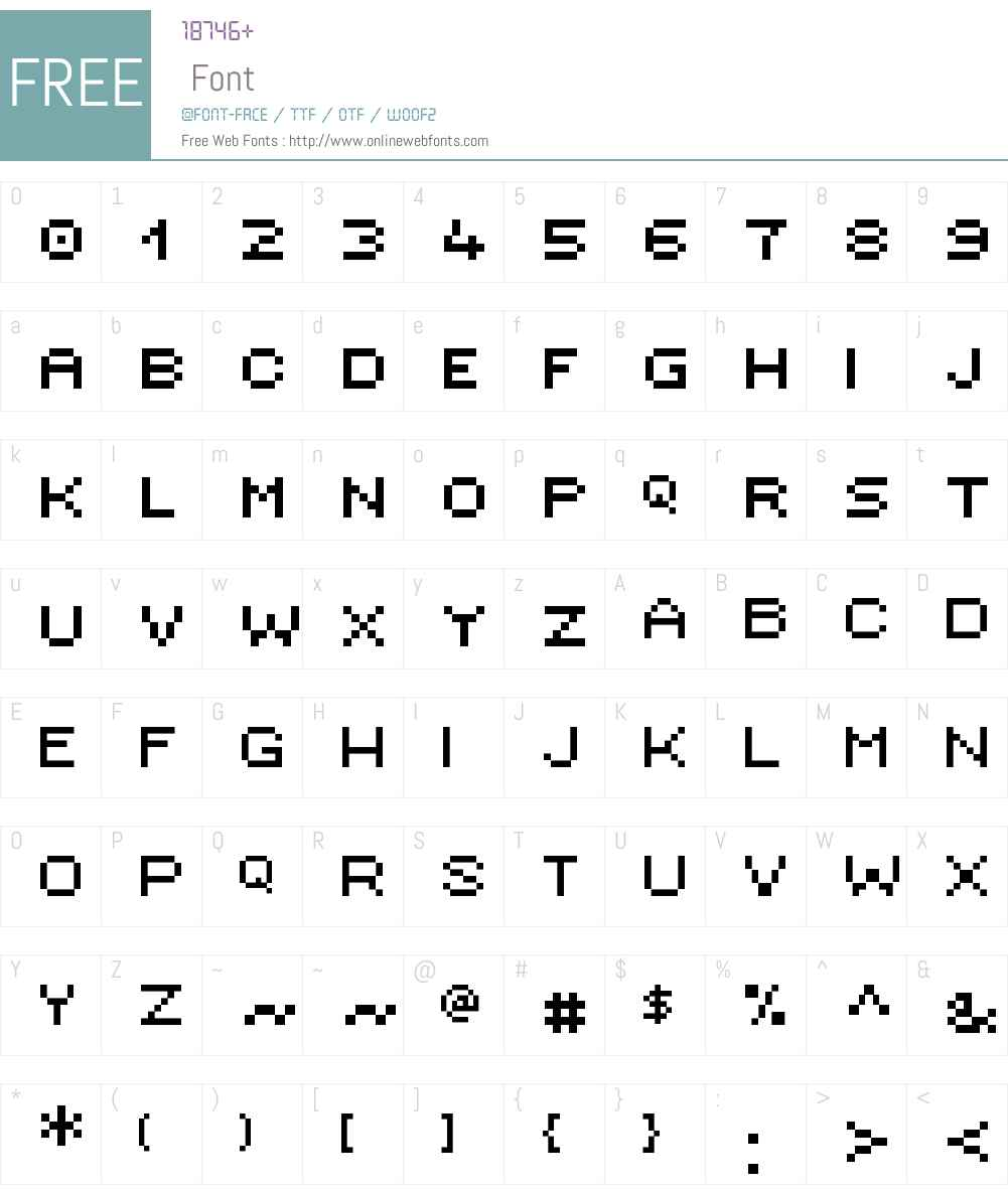 Ambitsek Font Screenshots