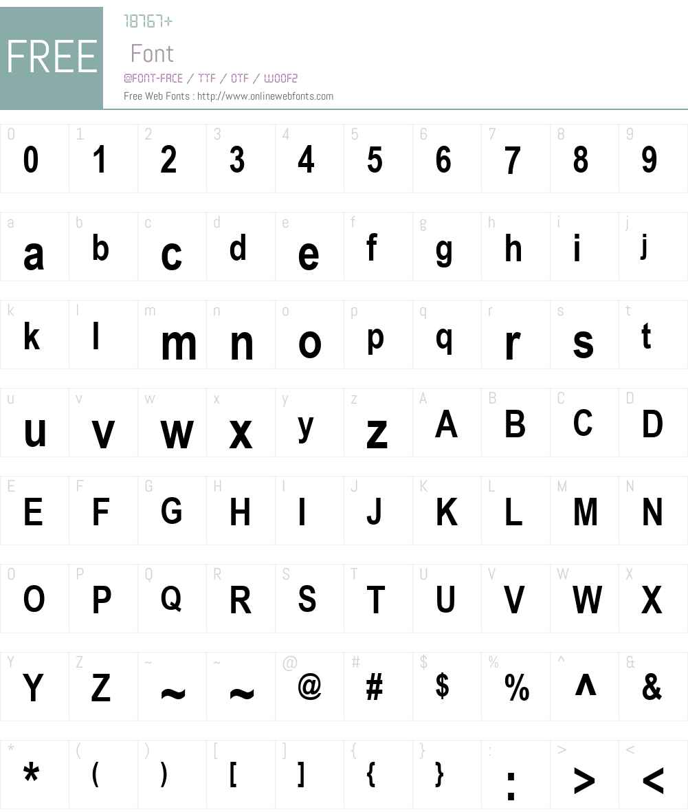 Arial Narrow Font Screenshots