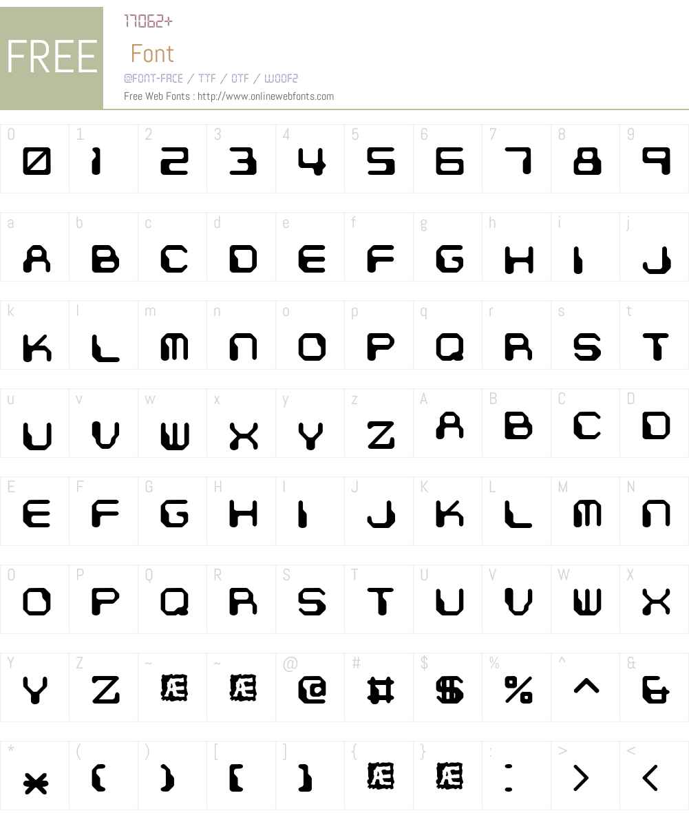 Chintzy CPU BRK Font Screenshots