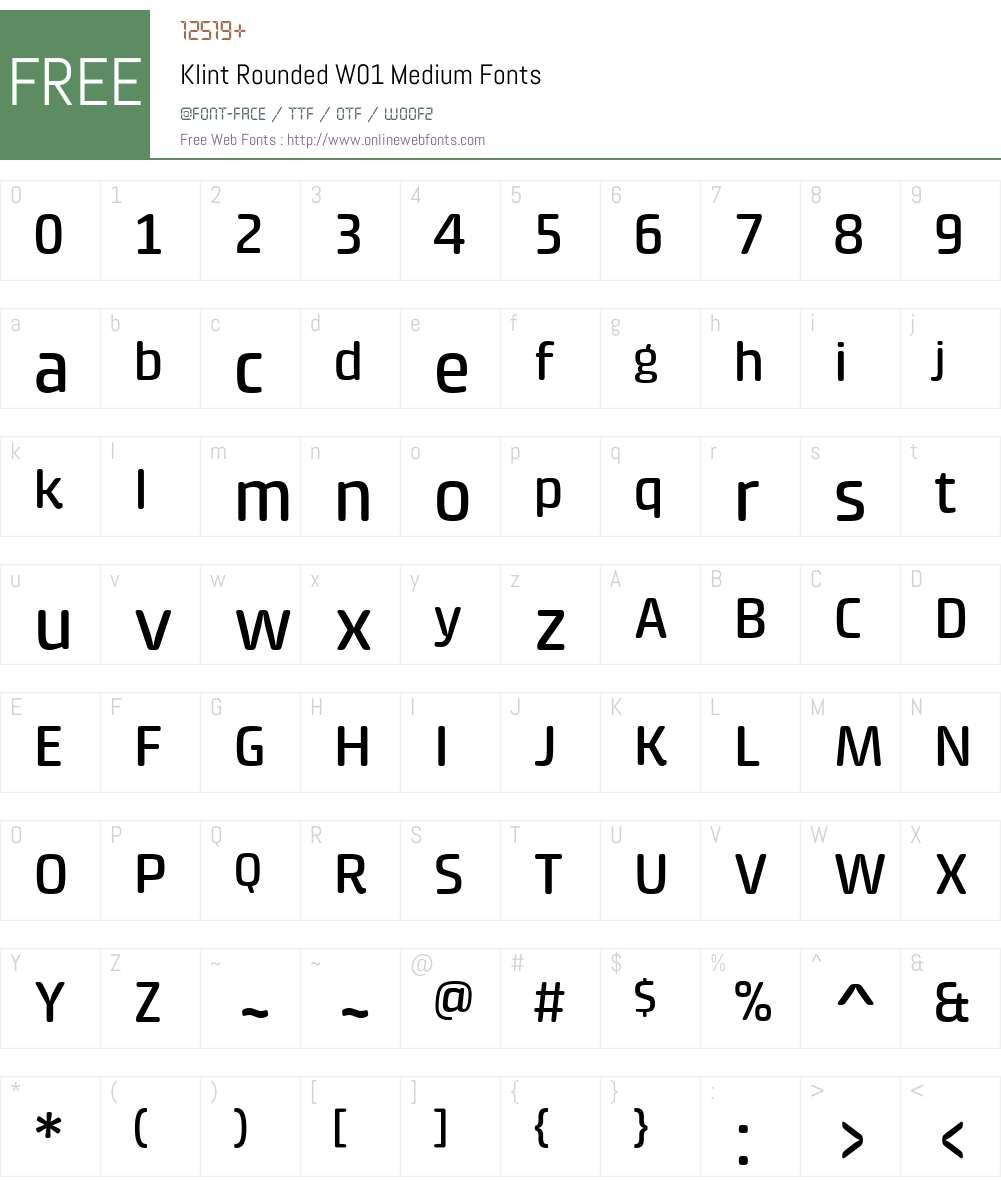KlintRoundedW01-Medium Font Screenshots