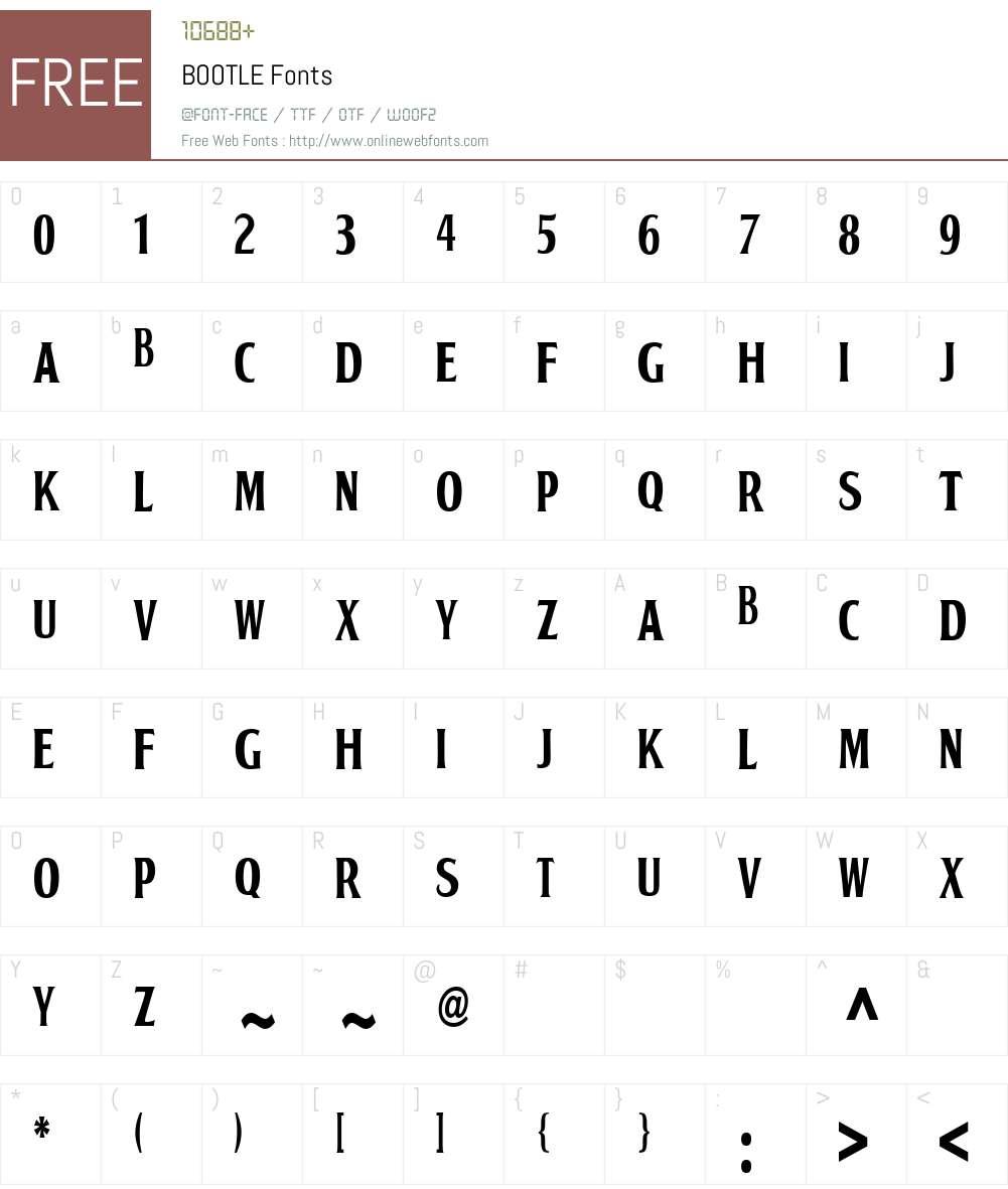 BOOTLE Font Screenshots