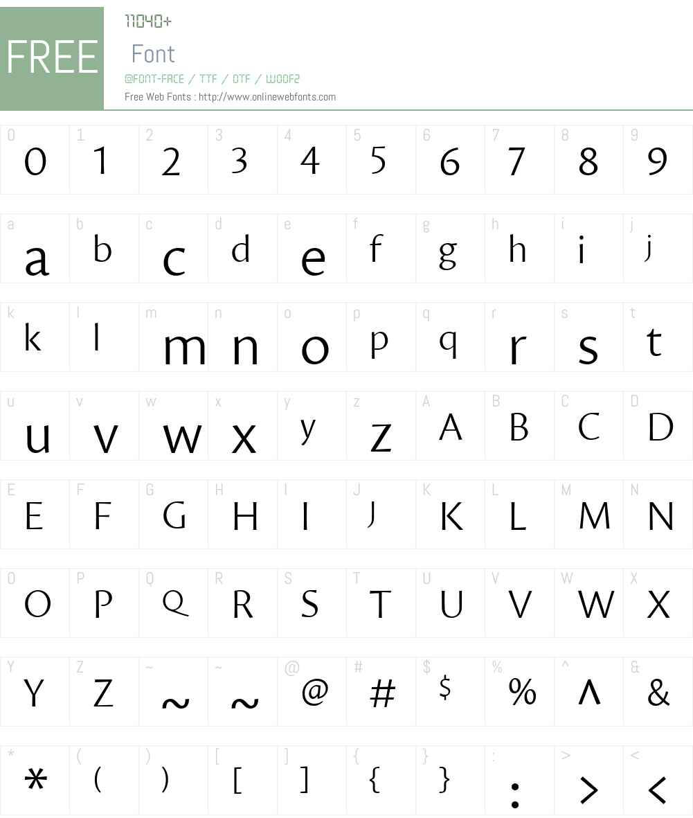 Proza Font Screenshots