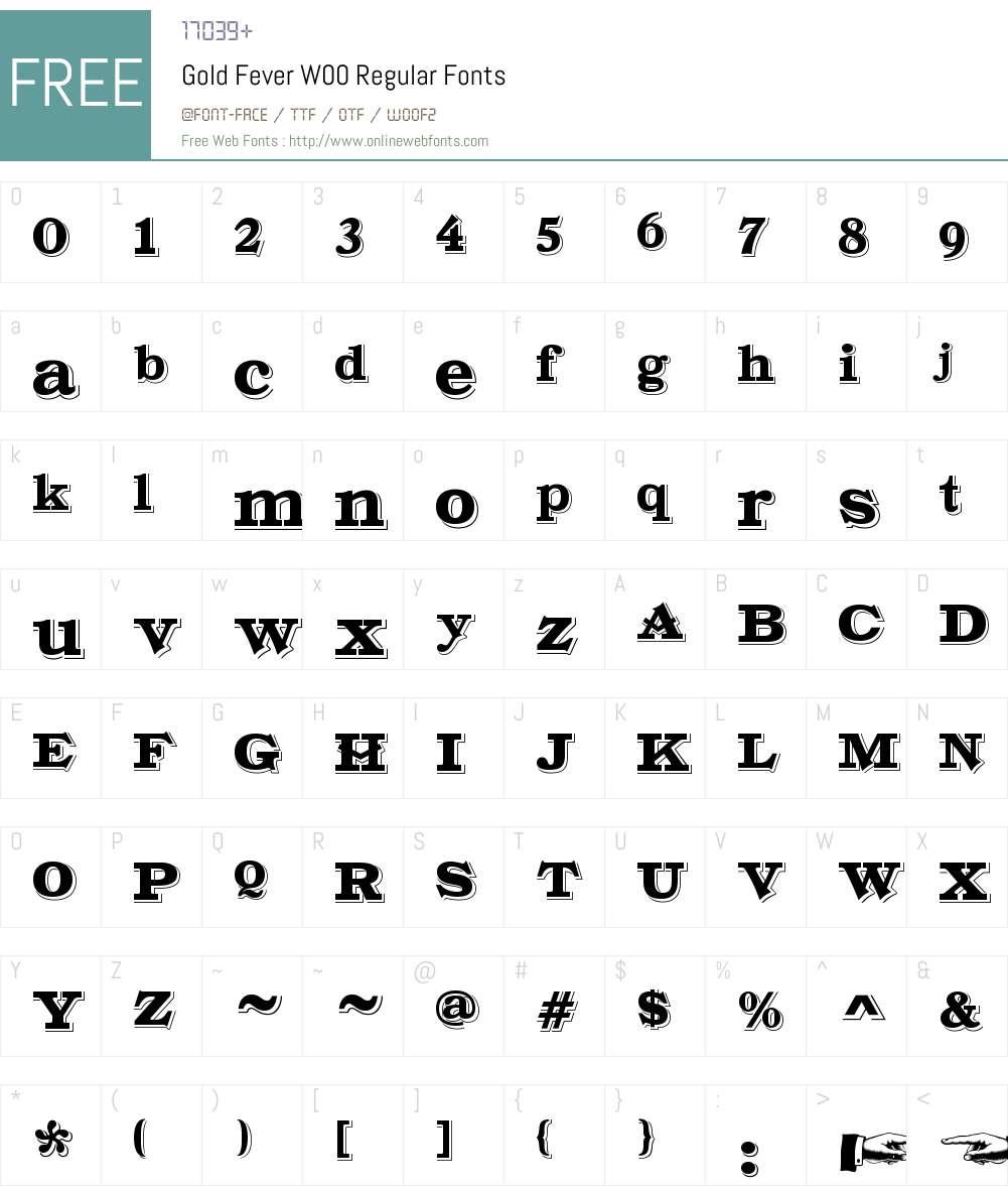 GoldFeverW00-Regular Font Screenshots