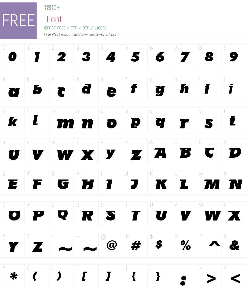 AB Futurun Font Screenshots