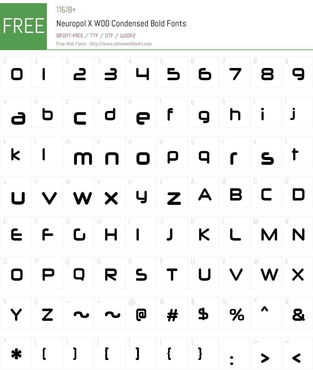 NeuropolXW00-CondensedBold Font Screenshots
