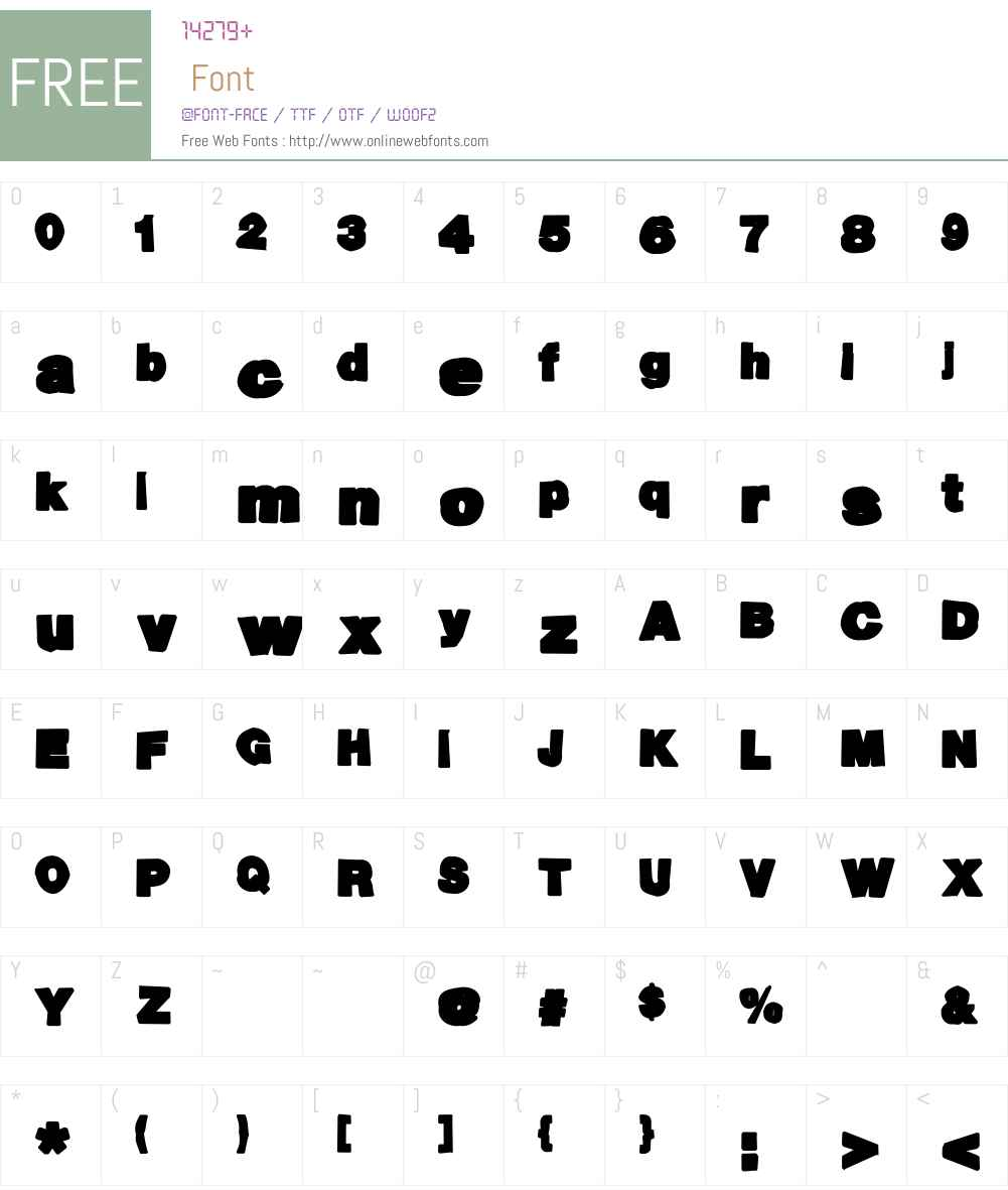 Ack-ack Font Screenshots