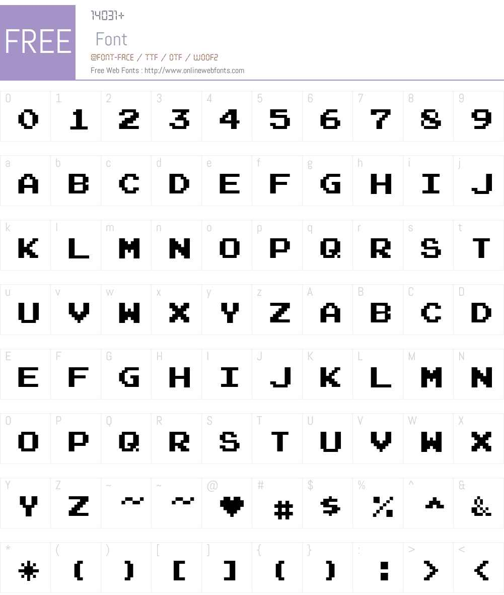 Joystix Font Screenshots