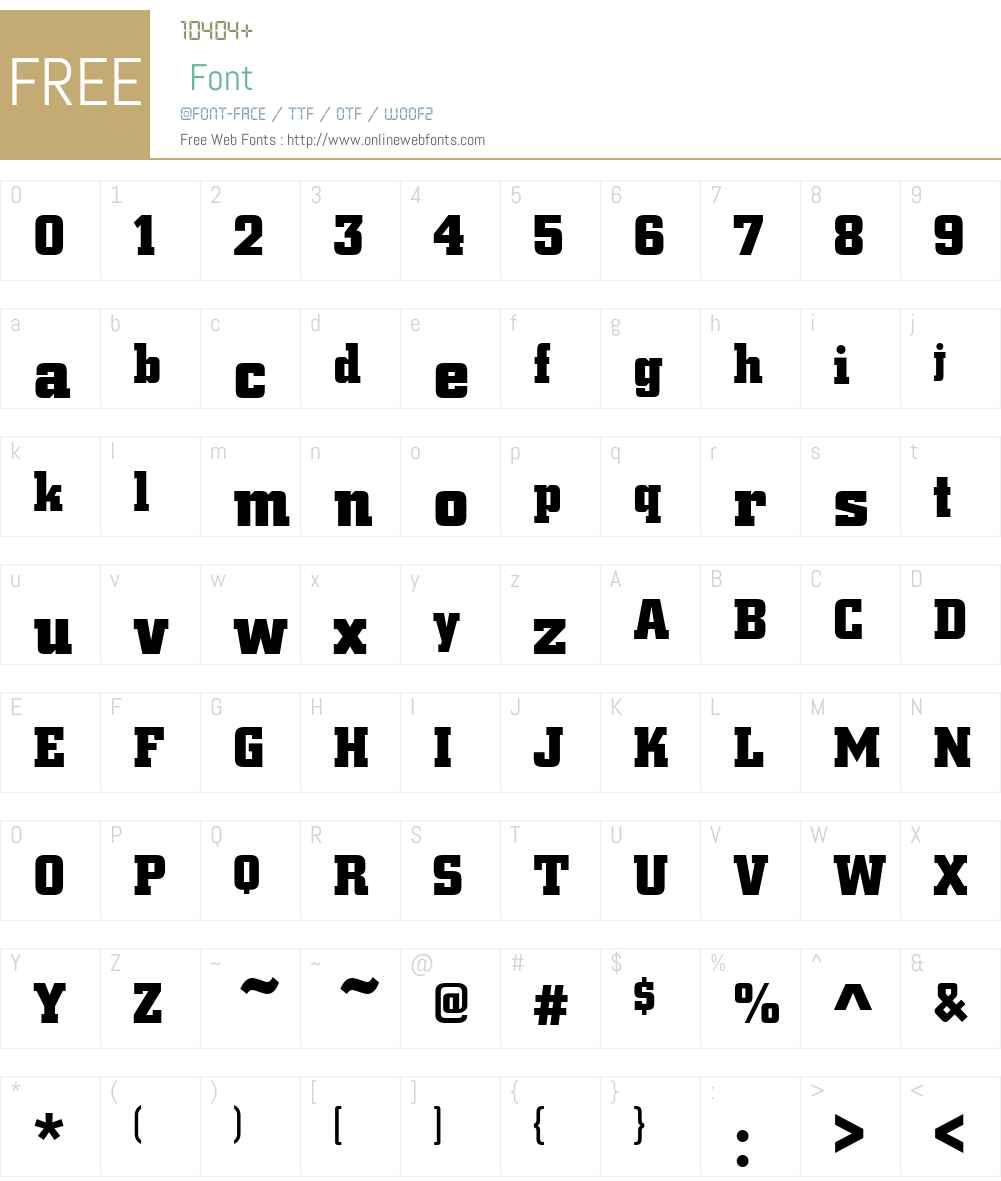 Centrum Font Screenshots