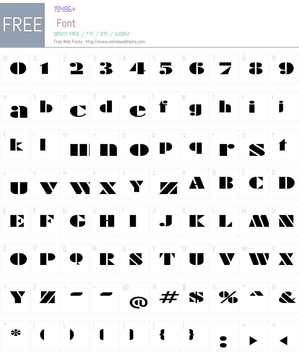 Rodchenko Ex Font Screenshots