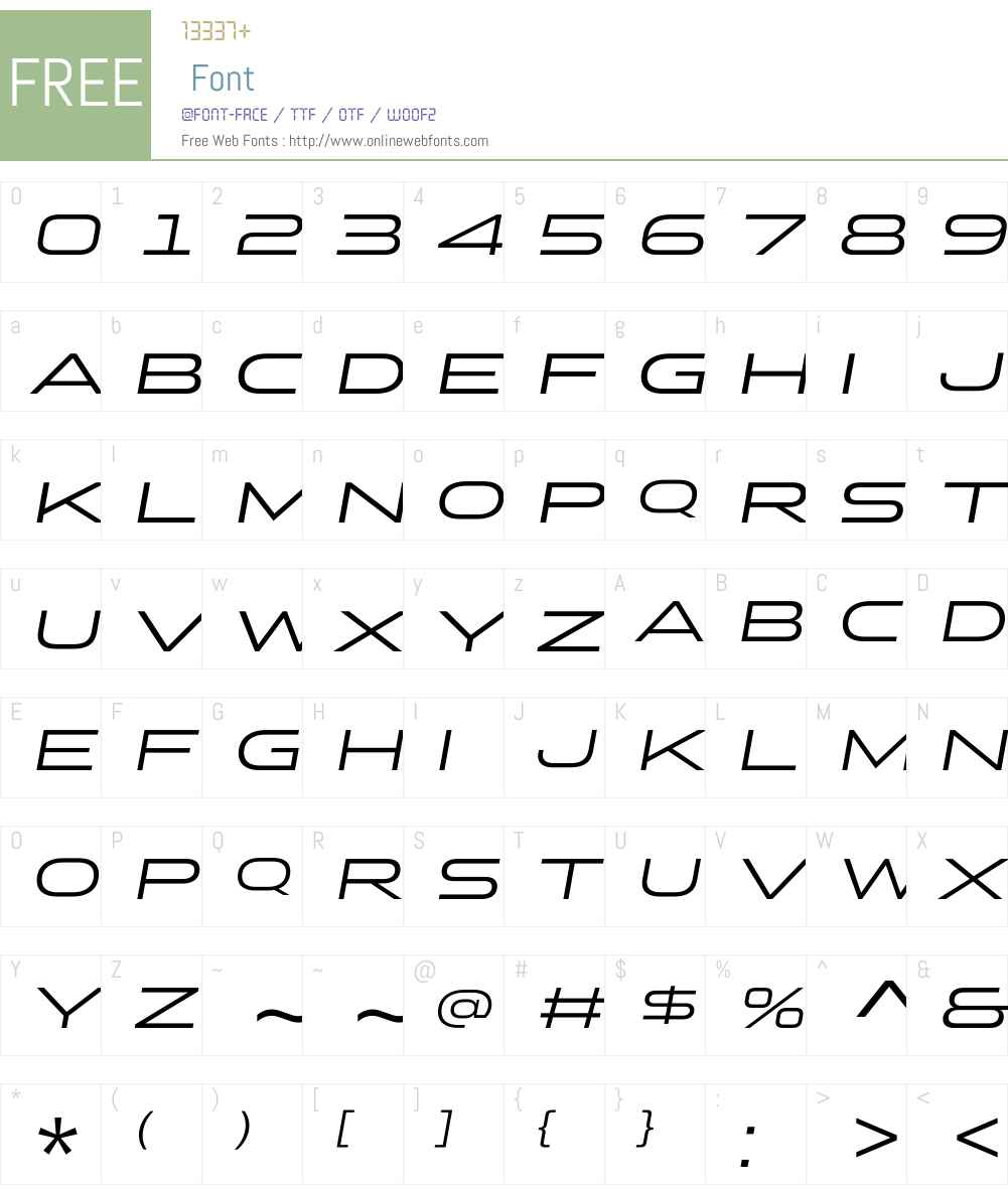 StereoGothicW01-400Italic Font Screenshots