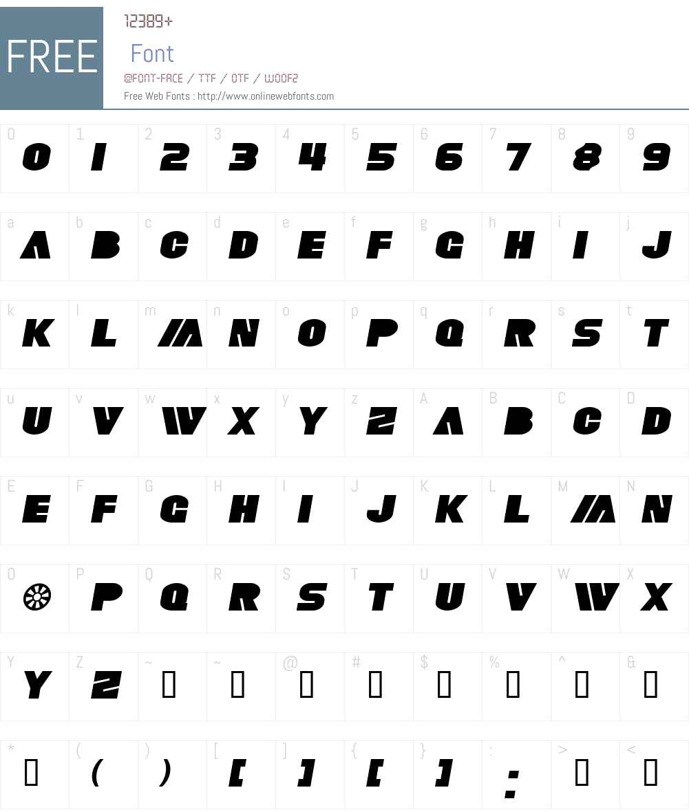 SF Fortune Wheel Extended Font Screenshots