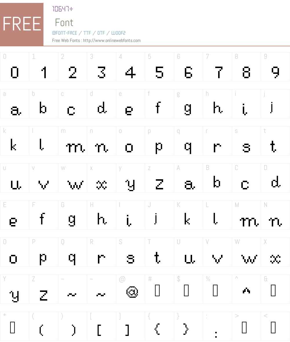 RSEHandwritingPi Font Screenshots