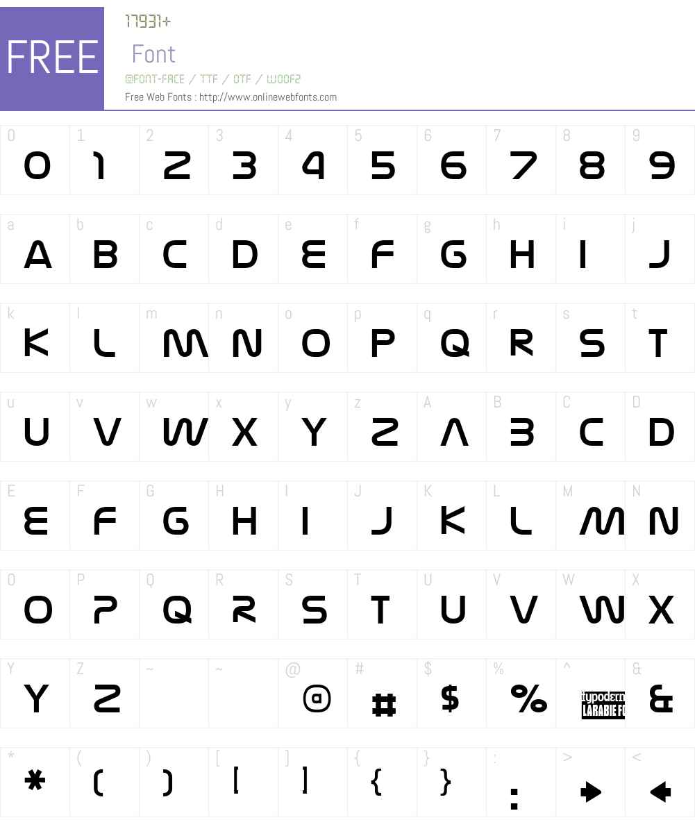 Nasalization Font Screenshots