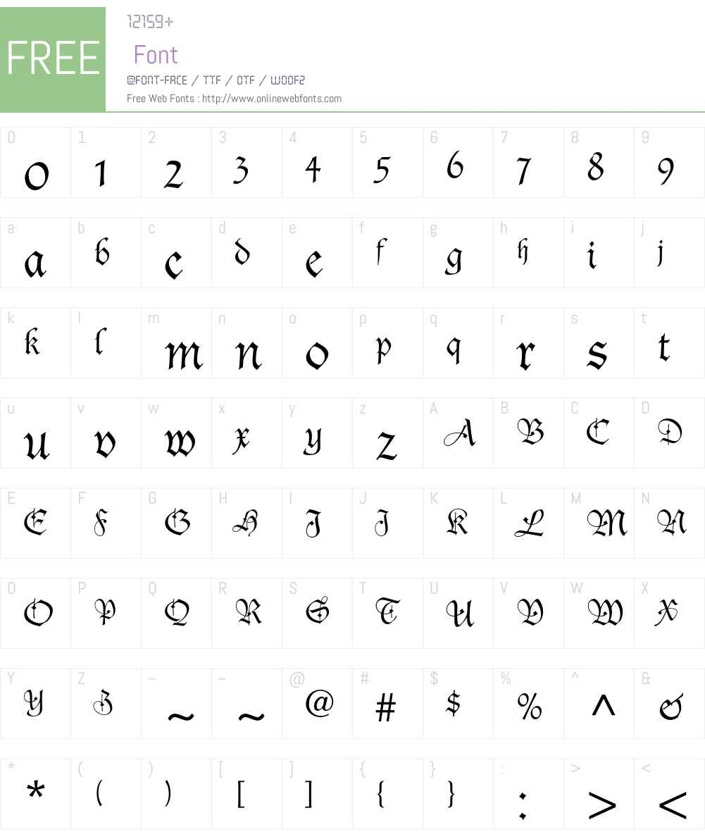 Duc De Berry LT Std Font Screenshots