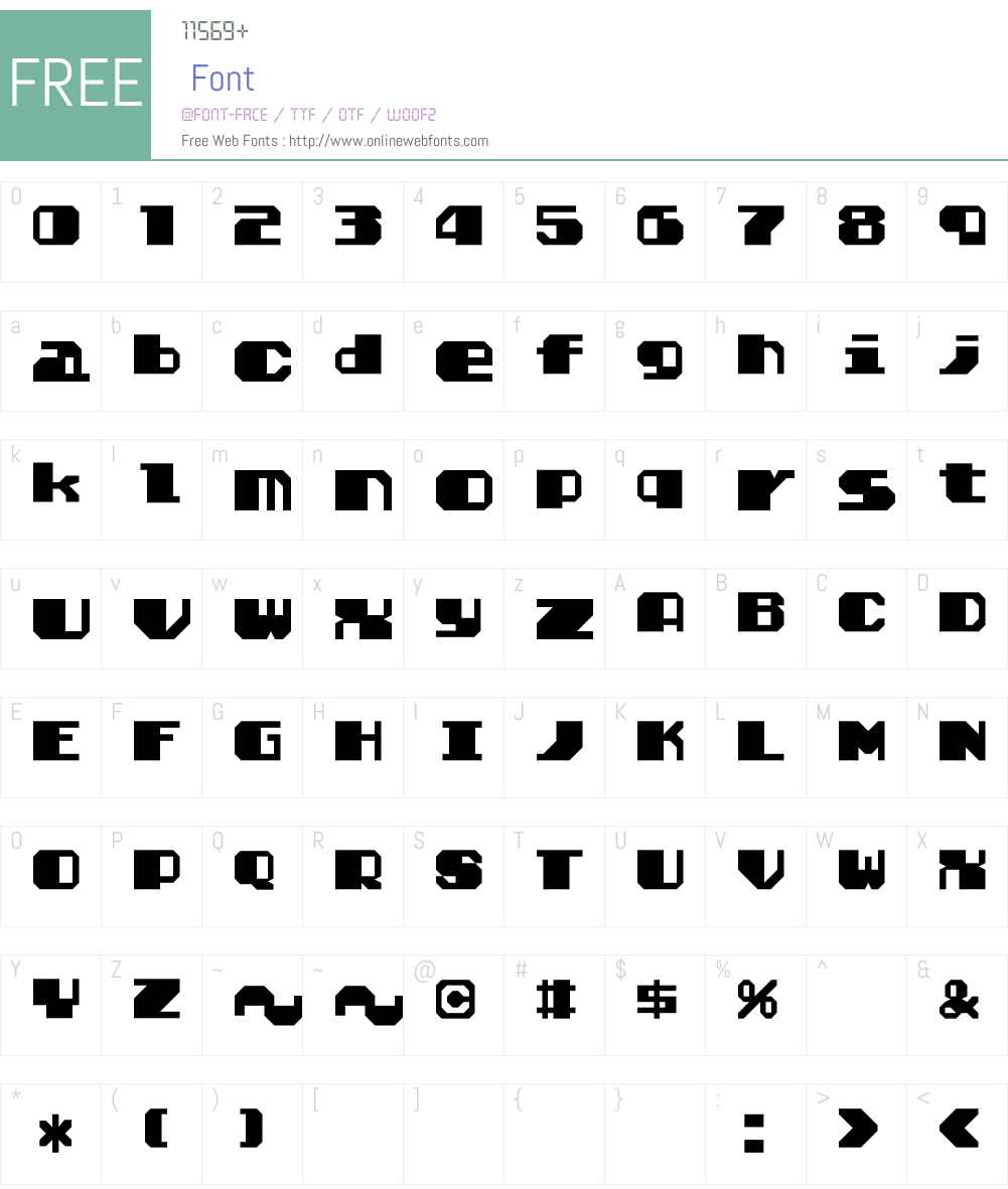 Solomon's Key True Type Smoose Font Screenshots