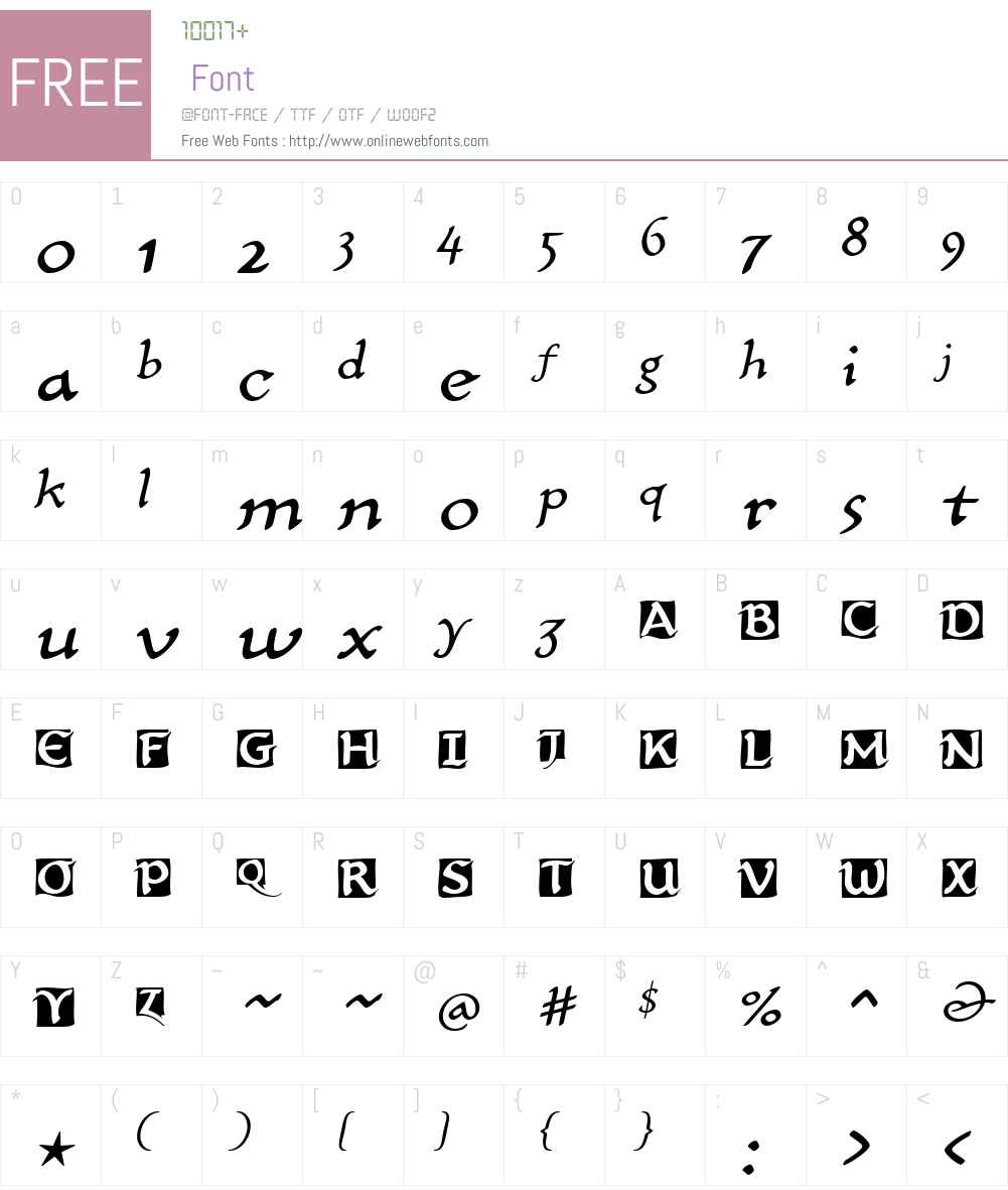 CarlinScriptLTW01-Initials Font Screenshots