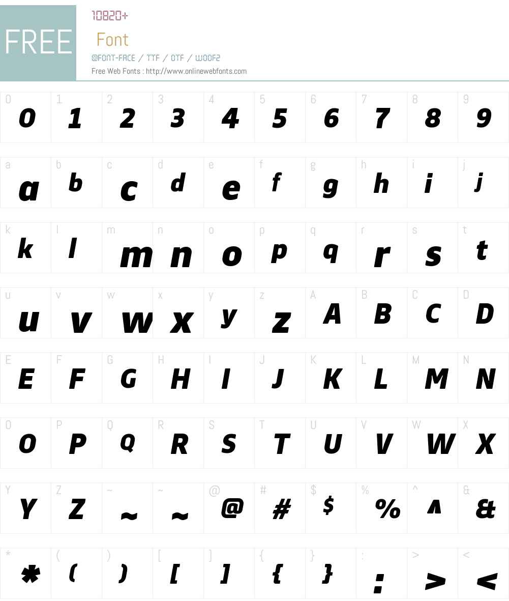 WebnarW00-BlackItalic Font Screenshots