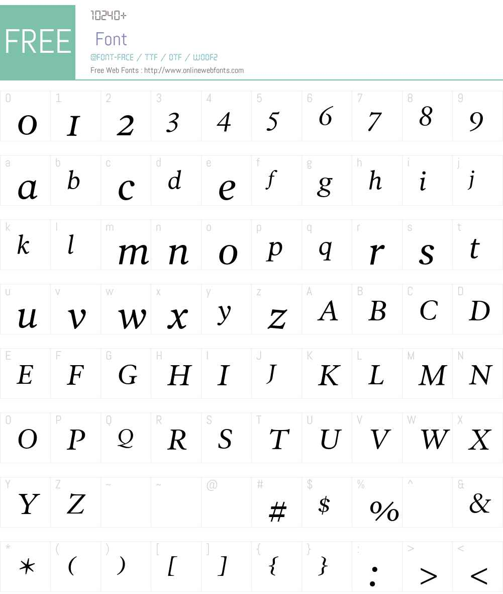 PoynterText Font Screenshots