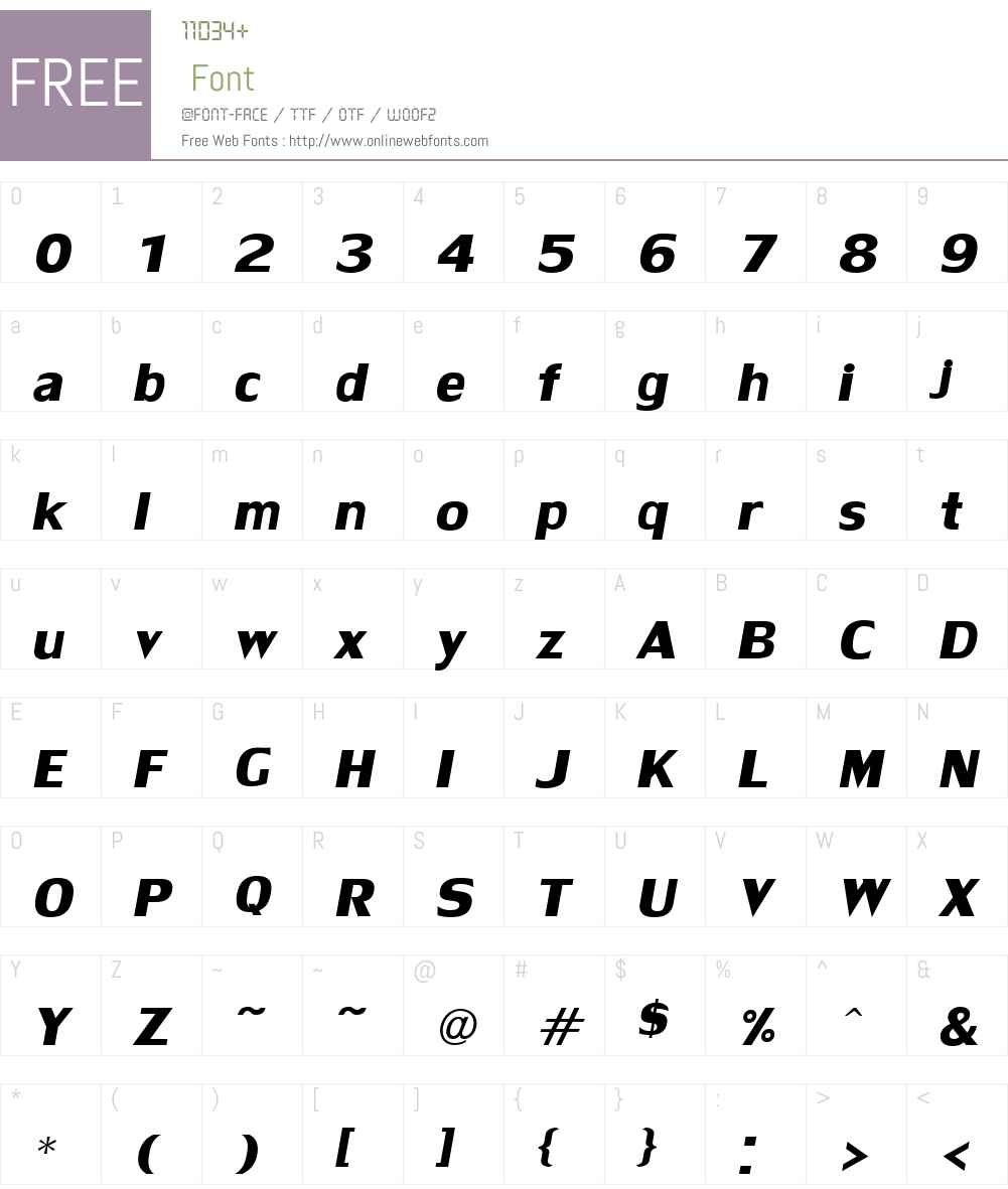 LilyUPCW01-BoldItalic Font Screenshots