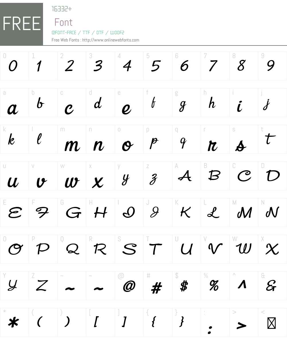 Snackbar-WideBoldItalic Font Screenshots