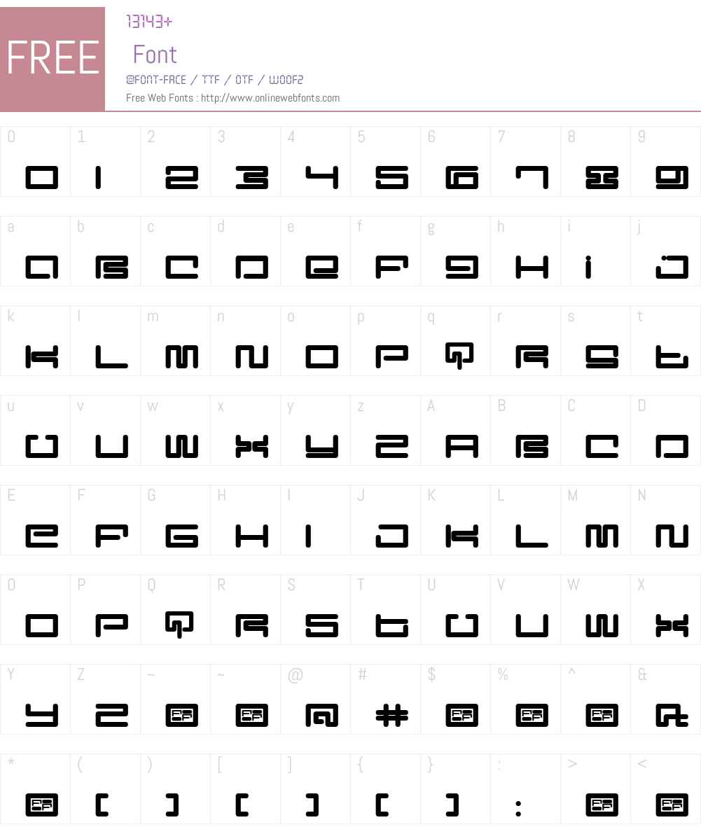 Digit Font Screenshots