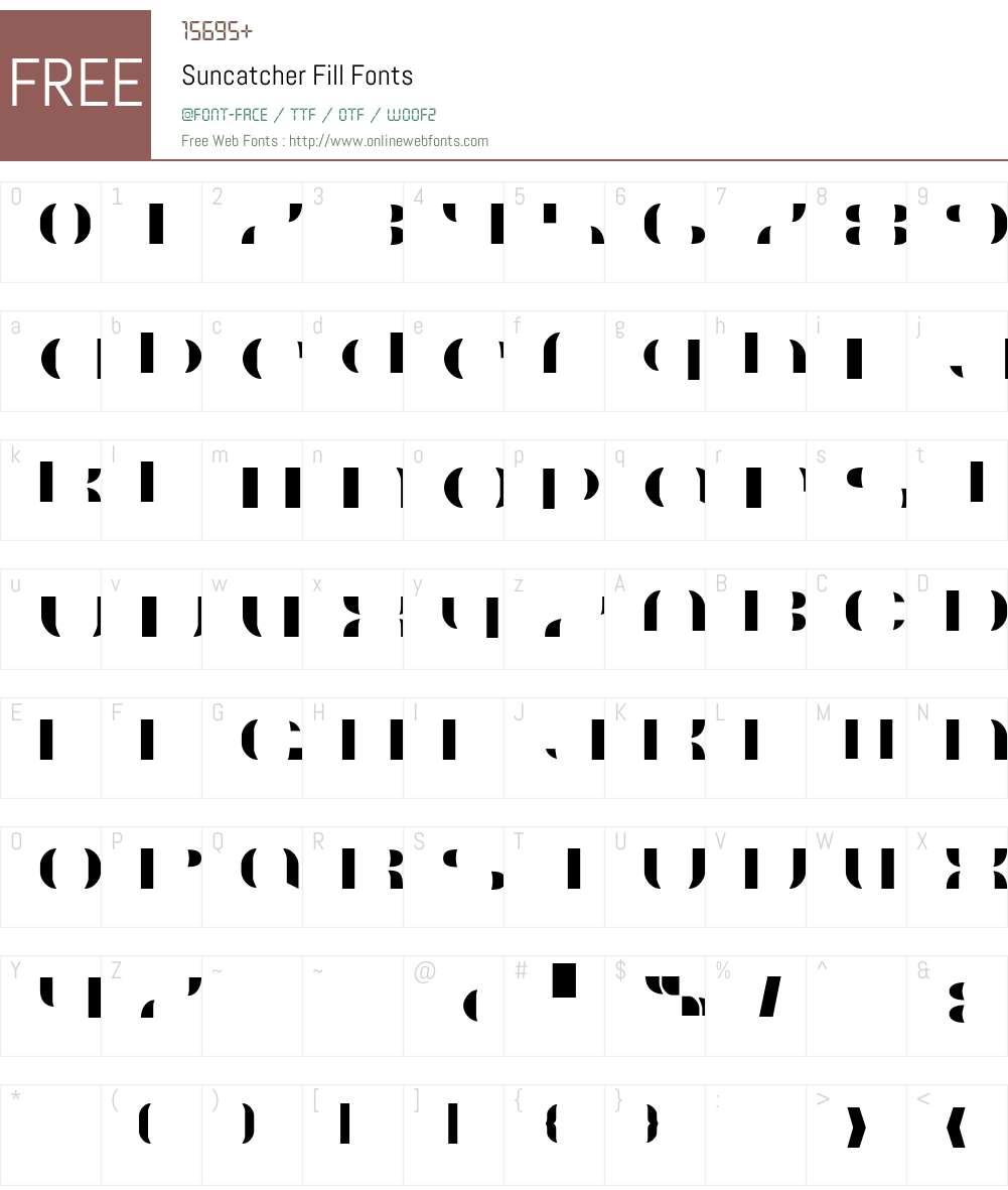 Suncatcher Fill Font Screenshots