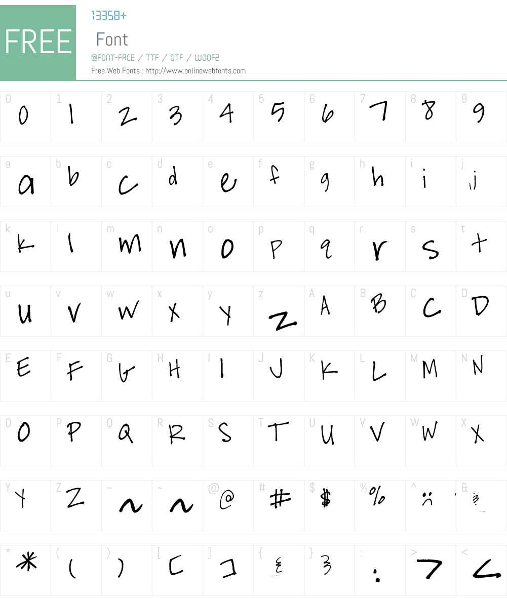 B-McE Font Screenshots