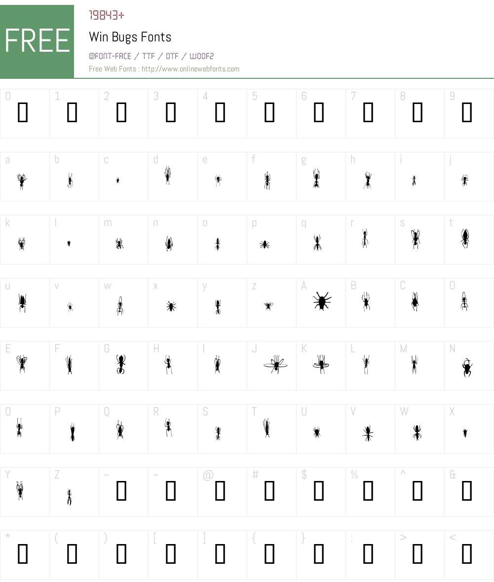 Win Bugs Font Screenshots