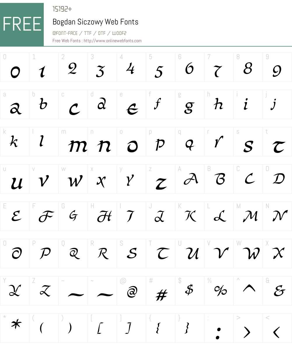 Bogdan Siczowy Web Font Screenshots