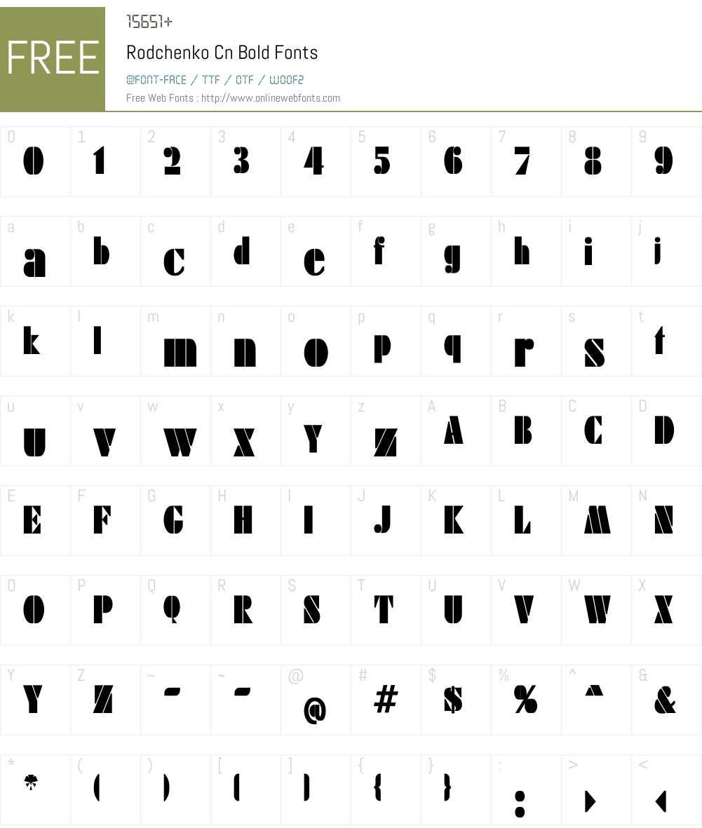 Rodchenko Cn Bold Font Screenshots