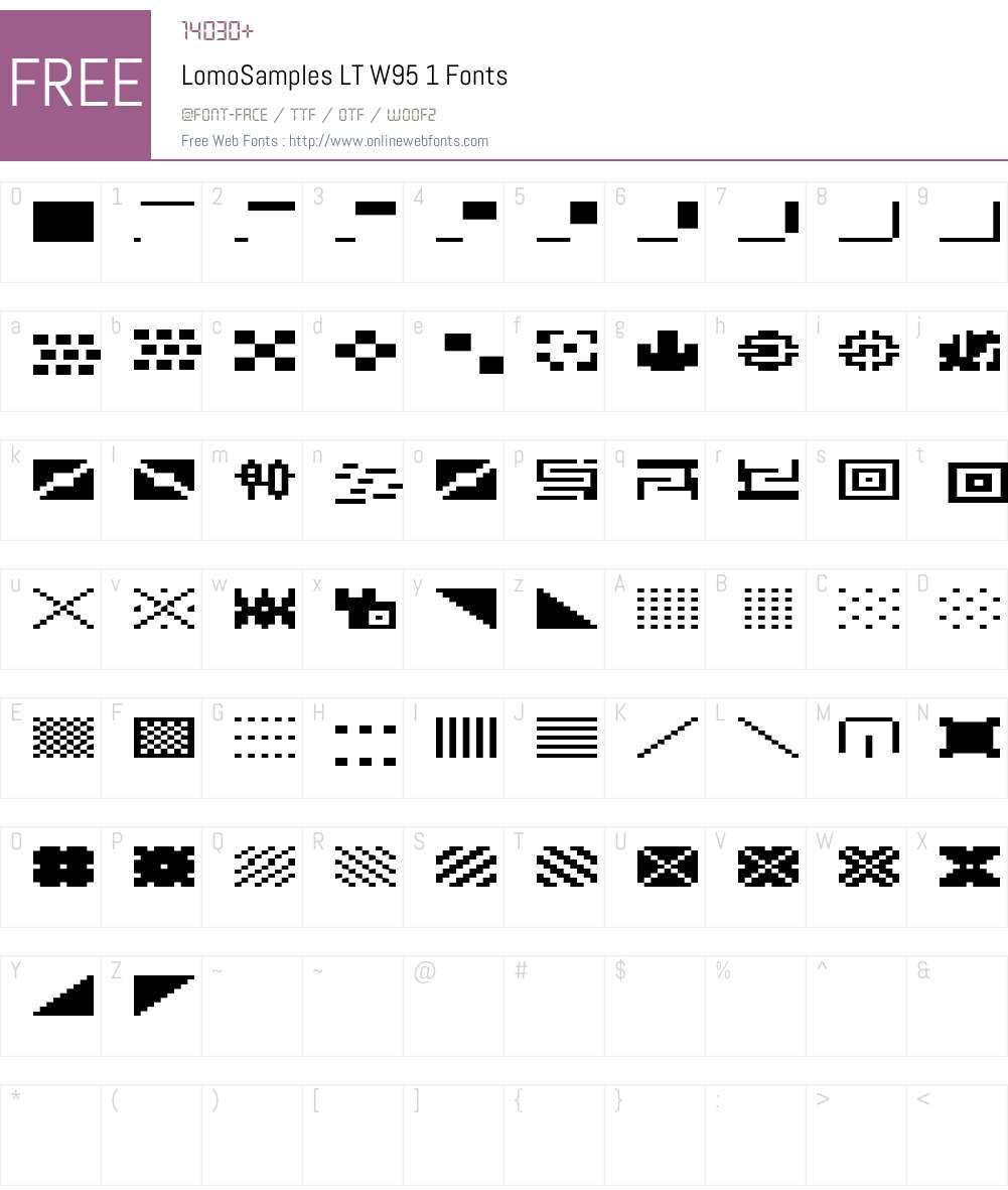 LomoSamplesLTW95-1 Font Screenshots