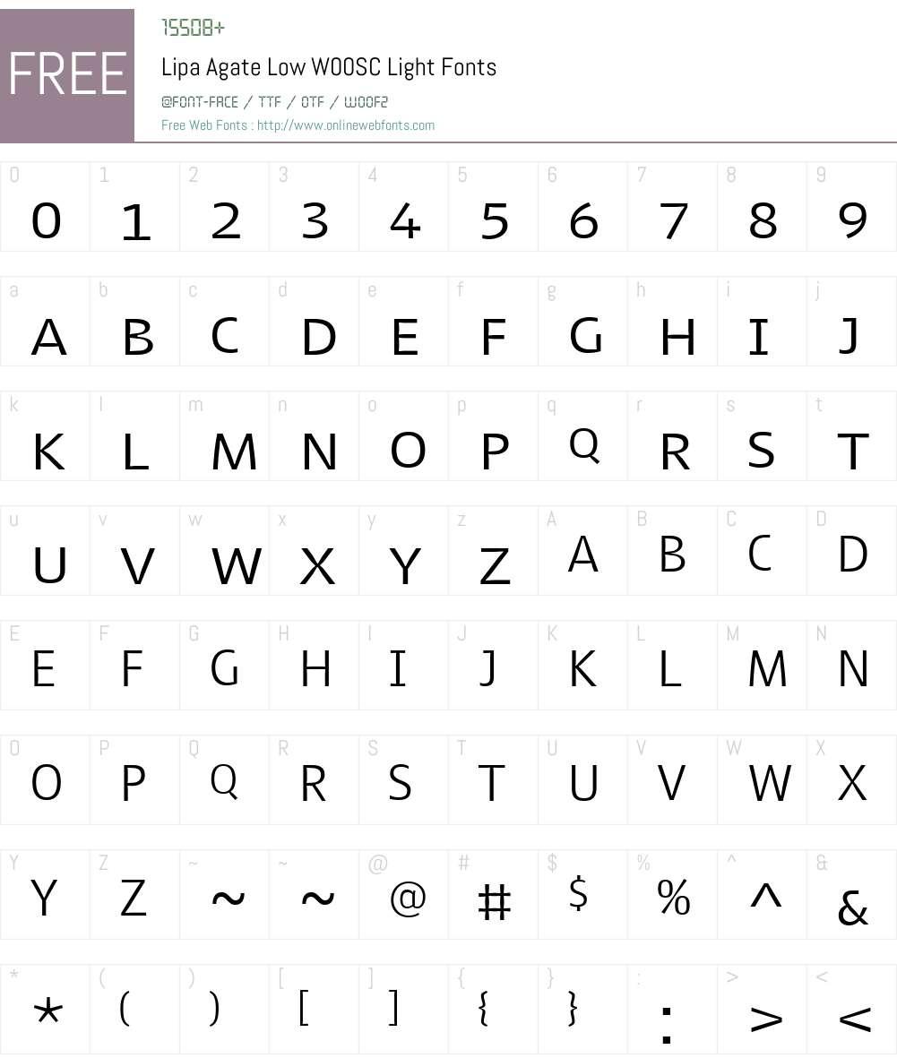 LipaAgateLowW00SC-Light Font Screenshots