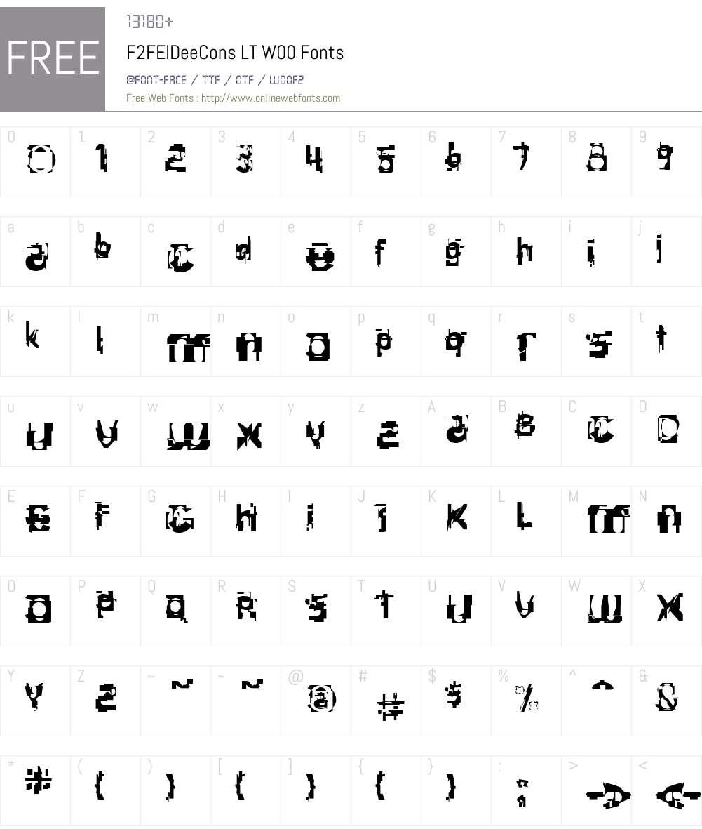 F2FEIDeeConsLTW00 Font Screenshots