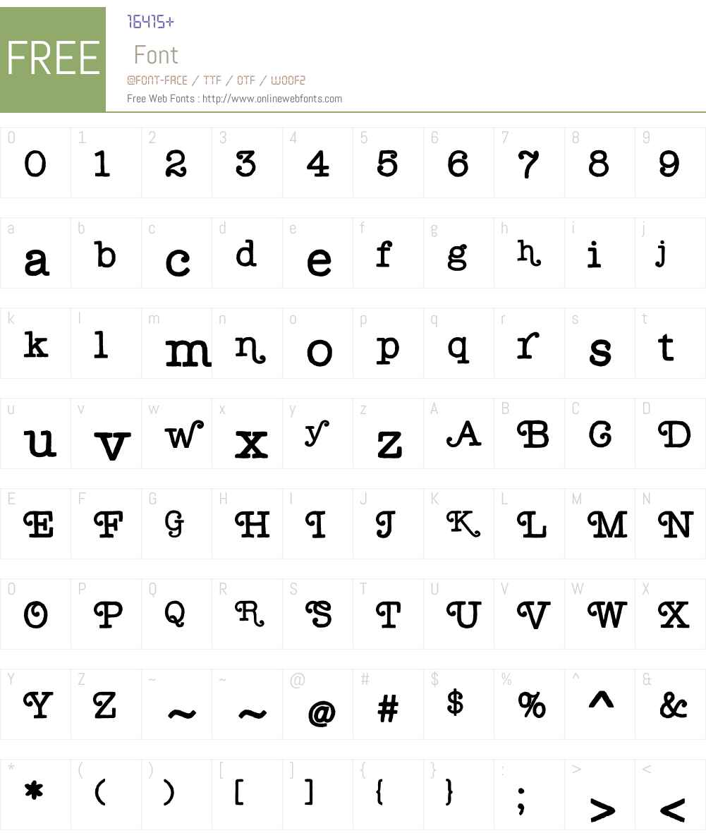 Lectra Font Screenshots
