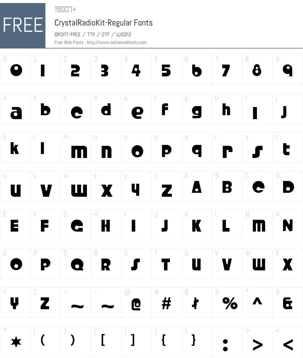 Crystal Radio Kit Font Screenshots