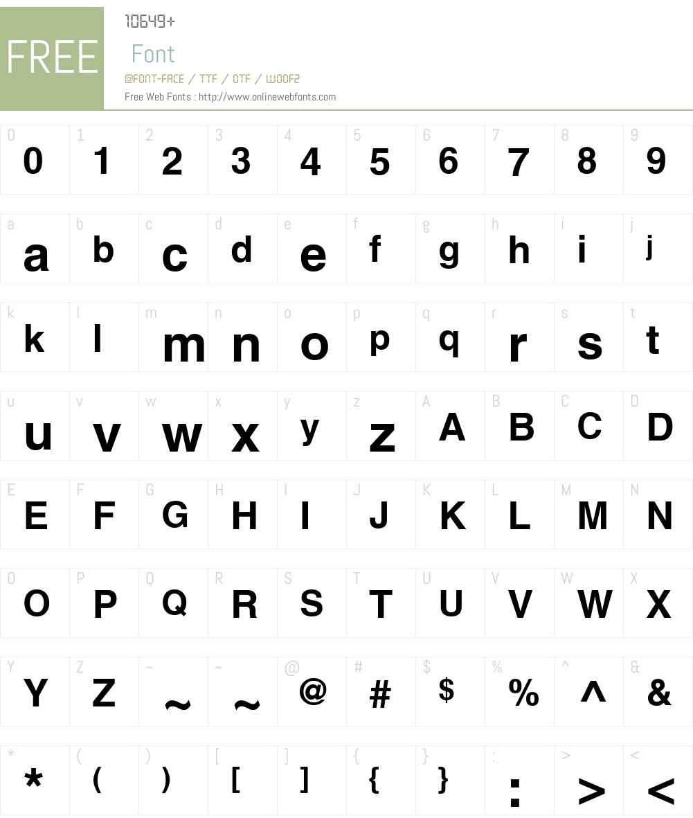 HelveticaCyr Upright Font Screenshots