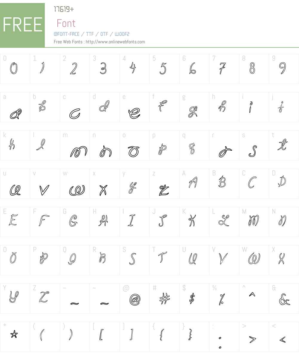 GardenW00-Ho Font Screenshots