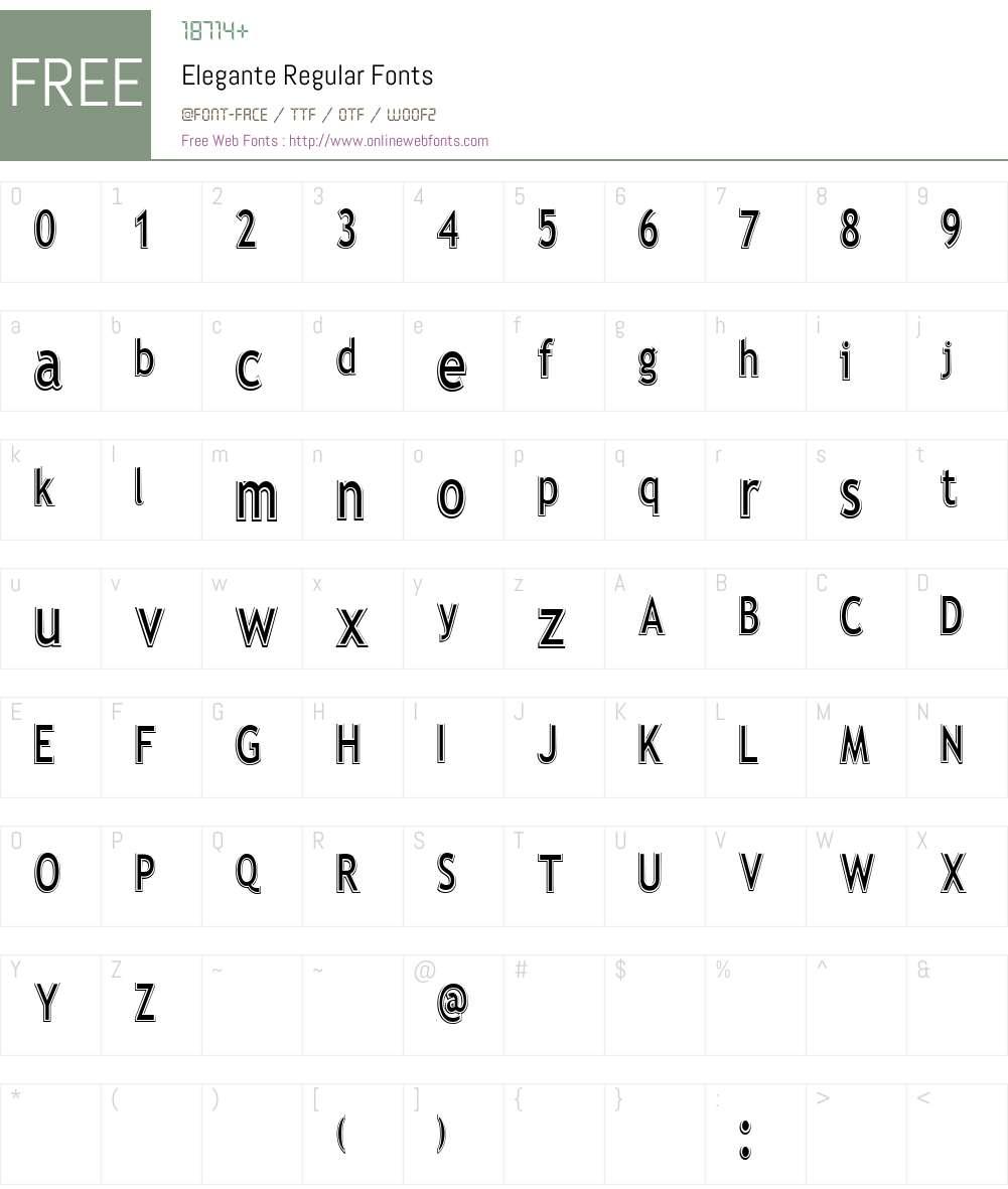 Elegante Font Screenshots