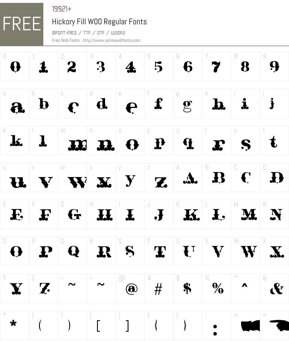 HickoryFillW00-Regular Font Screenshots