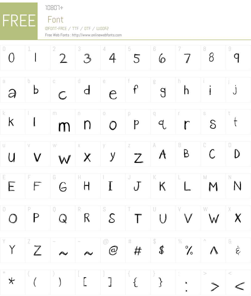 KBanAvoxlost Font Screenshots