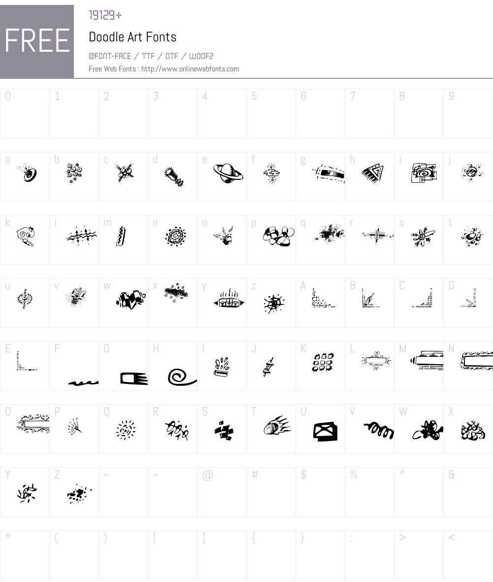 Doodle Art Font Screenshots